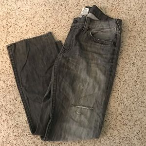 True religion men's gray distressed jeans size 38